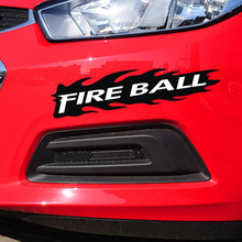 цена на For Fire Ball Decoration Die Cut Vinyl Sticker On Car Bumpers Windows Side Door Tail Totem Design Car Stickers And Decals