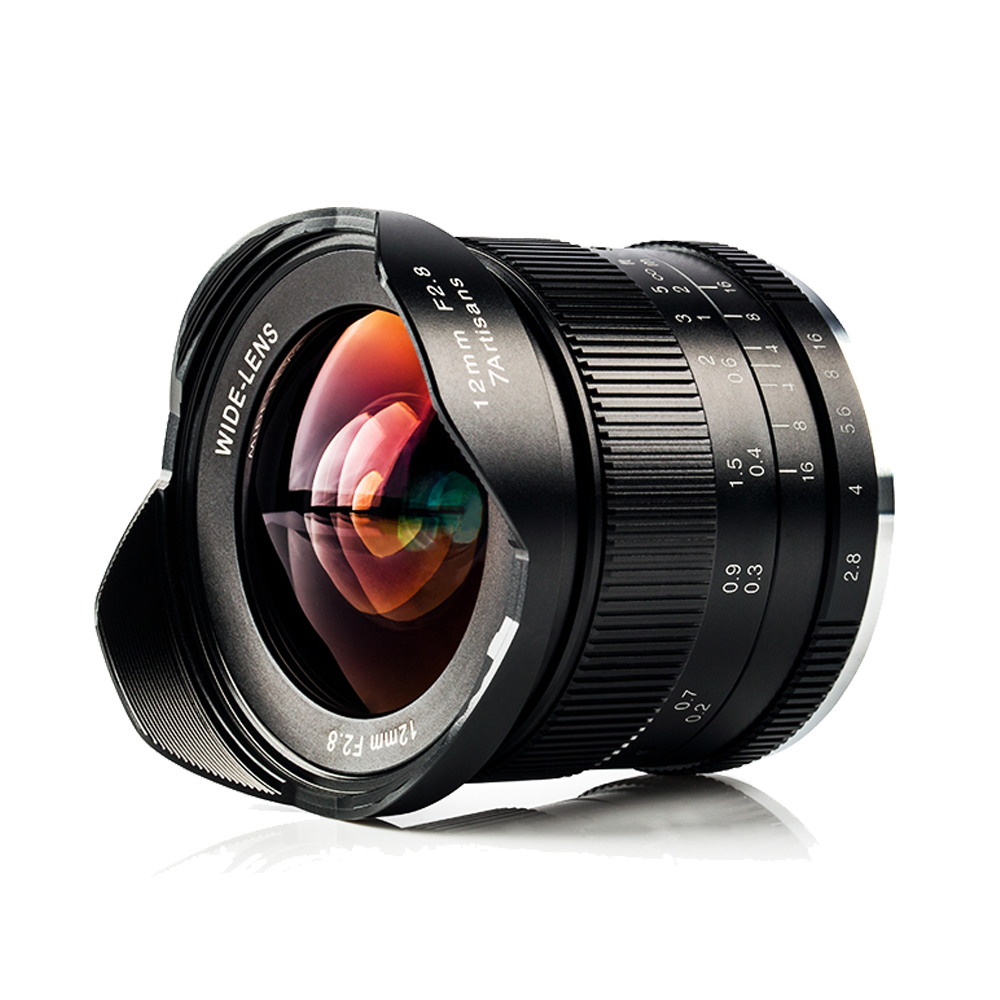 7artisans 12mm F2.8 Ultra Wide Angle Manual Focus Lens for Canon EOS-M Mount/Sony E Mount A6500 A9 A7 II A7RII /Fuji X-T2 Camera ismartdigi lp e6 7 4v 1800mah lithium battery for canon eos 60d eos 5d mark ii eos 7d