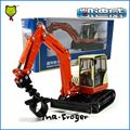 Mr.Froger Compact Excavator model  KDW 1:50 Refined metal Engineering Construction vehicle Decoration Classic children Toy
