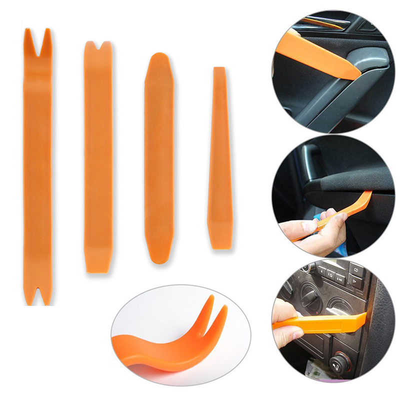 4pcs/set Car Panel Removal Tools Automobile Radio Panel Door Clip Trim Dash For Audio Removal Installer Pry Repair Tool Set