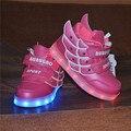 Crianças Sapatos Com Lumineuse Levou Crianças Iluminar Sapatos Chaussure Enfant de Carregamento USB Acender Tênis Para As Crianças