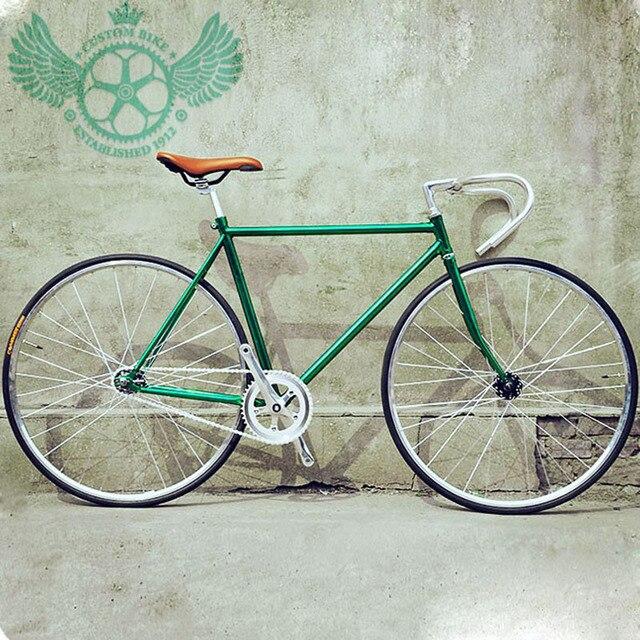 Us 3250 Fixie Bike Fai Da Te 700c Retro Bike Telaio In Acciaio Bicicleta Bici A Scatto Fisso Strada Vintage Singola Bicicletta In Fixie Bike Fai Da