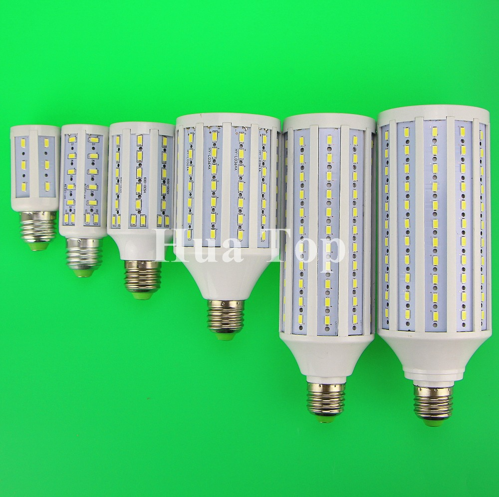 E27 B22 E14 E40 7W 15W 30W 40W 50W 60W 80W 100W 5730 SMD Cree chip Corn Light AC 110V 220V LED Bulb Lamp Cool Warm White Lampada high power aluminum 5730 smd led corn bulb 85 265v e27 15w 20w 30w 40w 50w 60w 80w led lamp warm cold white free shipping 1pcs