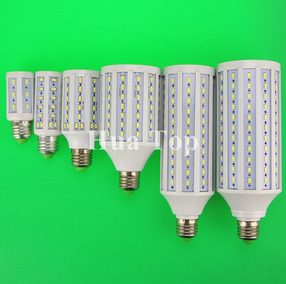 E27 B22 E14 E40 7W 15W 30W 40W 50W 60W 80W 100W 5730 W chip CREE SMD luces tipo maíz AC 110V 220V bombilla LED para lámpara Cool blanco cálido Lampada Novedosas Bombillas E27, bombilla LED de 220 V, 4,5 W, 8 W, 220 V, lámpara LED E27 de alta calidad