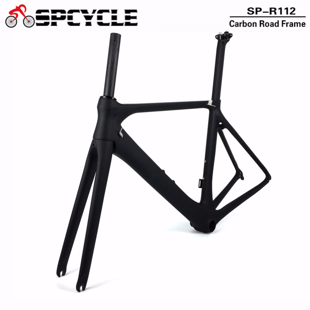 Spcycle Full Carbon Fiber Road Bicycle Frames,700C Aero Cycling Racing Road Carbon Bike Frames Framesets BB86  50/53/55cm Spcycle Full Carbon Fiber Road Bicycle Frames,700C Aero Cycling Racing Road Carbon Bike Frames Framesets BB86  50/53/55cm