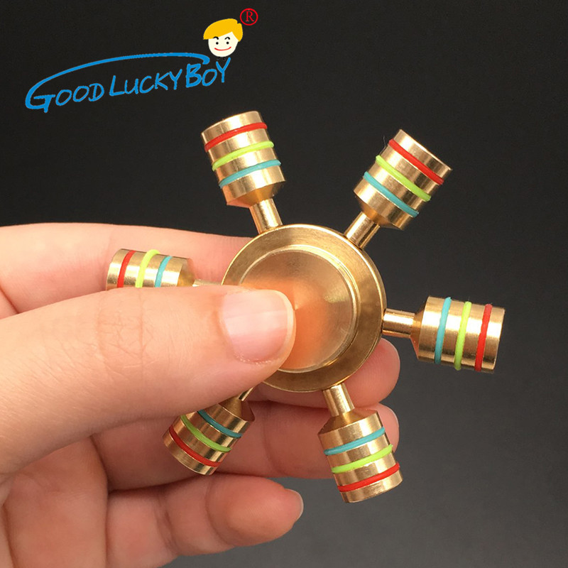 Spinner Rainbow Metal Copper Bearing Spinner Brass Fidget Spinner For Autism Adult Anti Relieve Stress Hand Spinner Toy Spiner