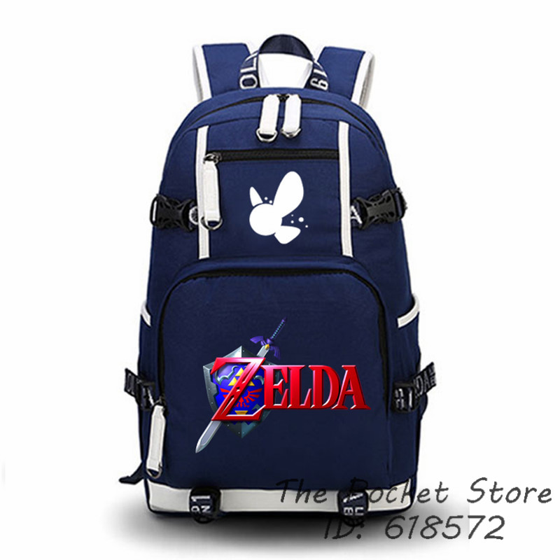 Top Quality The Legend of Zelda: Breath of the Wild Link Cosplay Printing Backpack School Bags Laptop Zelda Backpack Travel Bag