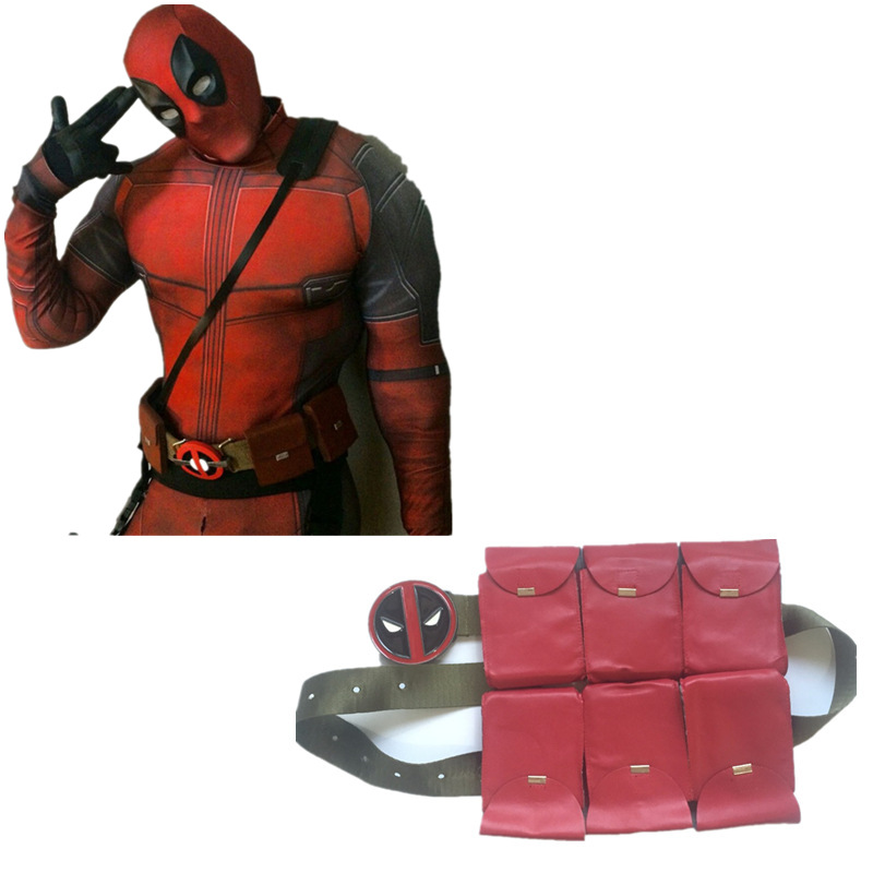 Movie Deadpool Cosplay Costume Deadpool Cosplay Accessories Deadpool Original style Claret Belt for Men and women
