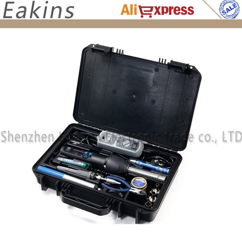 yihua soldering kit 27 in 1 - YIHUA 27 in 1 Portable Digital BGA Solder Rework Kit 8858I Hot Air Gun 908 Electric Soldering Iron Welding Repair Tools Set