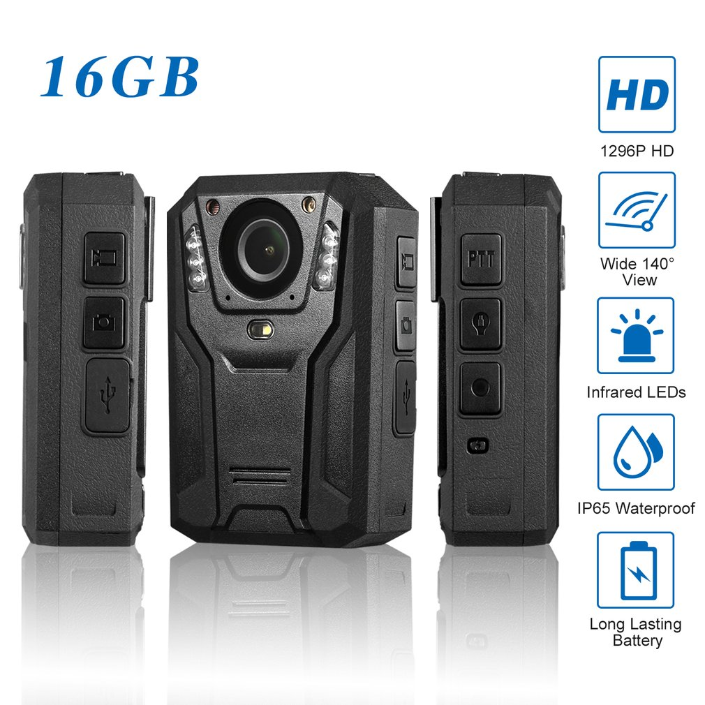 LESHP 1296P Full HD Waterproof Police Body Camera Security Gadget With 2 Inch Display Night Vision GPS Motion detectionLESHP 1296P Full HD Waterproof Police Body Camera Security Gadget With 2 Inch Display Night Vision GPS Motion detection