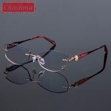 Женские очки для чтения без оправы Роскошные Цветные готовые
