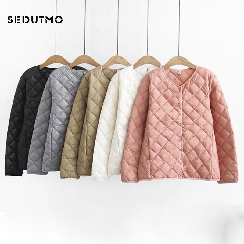 SEDUTMO Winter Plus Size 4XL Down Jackets Women Ultra Light Short Duck Down Coat Casual Black Puffer Jacket Autumn Parkas ED534