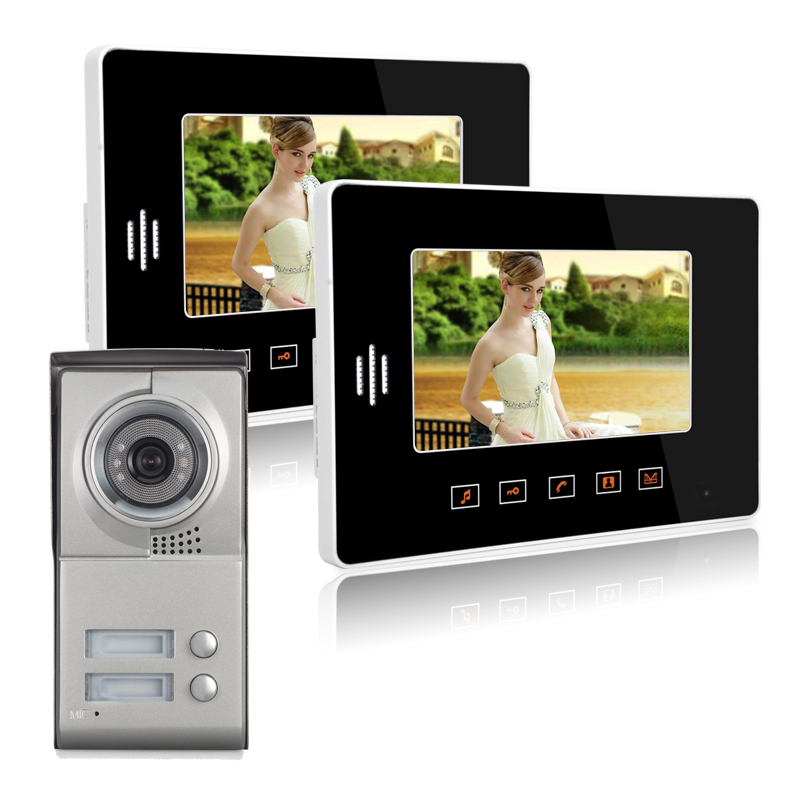 7 Color Touch Screen Video Door Phone Video Intercom Door Intercom Doorphone IR Night Vision Camera Doorbell Kit for Apartment белые цветы дизайн pu кожа флип кошелек карты держатель чехол для samsung galaxy a3