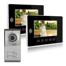 7″ Color Touch Screen Video Door Phone Video Intercom Door Intercom Doorphone IR Night Vision Camera Doorbell Kit for Apartment