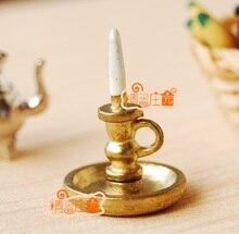 MINI dollhouse miniature Mini furniture accessories small candlestick retro matte gold