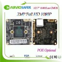 MarvioSafer 2MP Full HD 1080 P de Alta Definição visão Boa noite Módulo de Placa da câmera de Rede p2p Onvif CCTV IP Aduio TF cartão