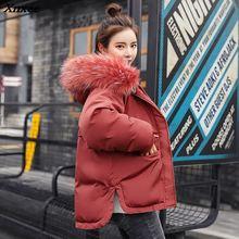 Winter Jacket Women parka New 2018 Fashion Warm Down black Artificial faux fake Fur Collar Womens Coat