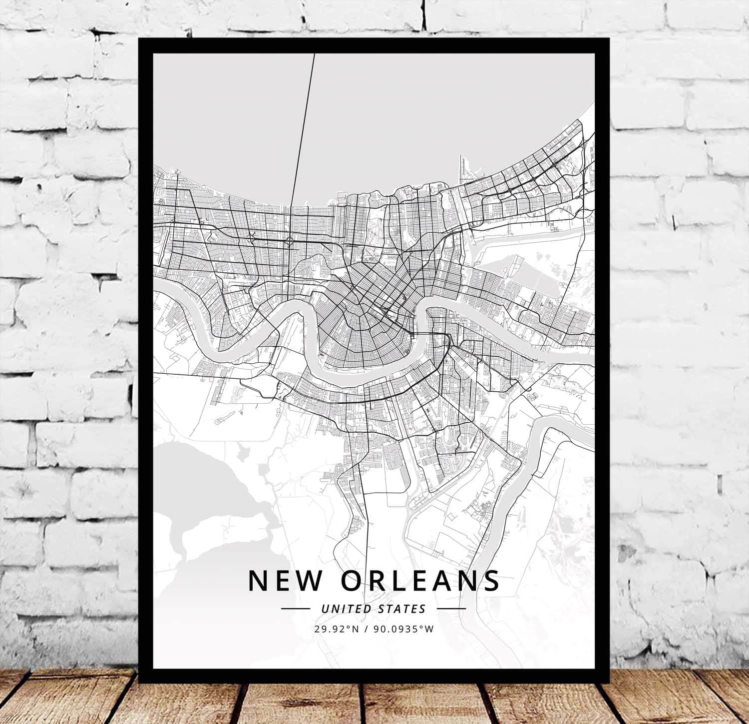 New Orleans LA Louisiana USA United States of America Map Poster image