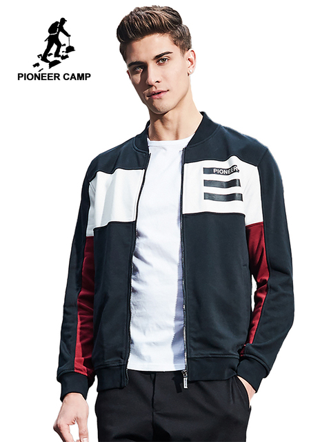 Pioneer Camp New arrival Spring jacket men brand clothing fashion men coat top quality patchwork hip hop jacket male  AJK702408