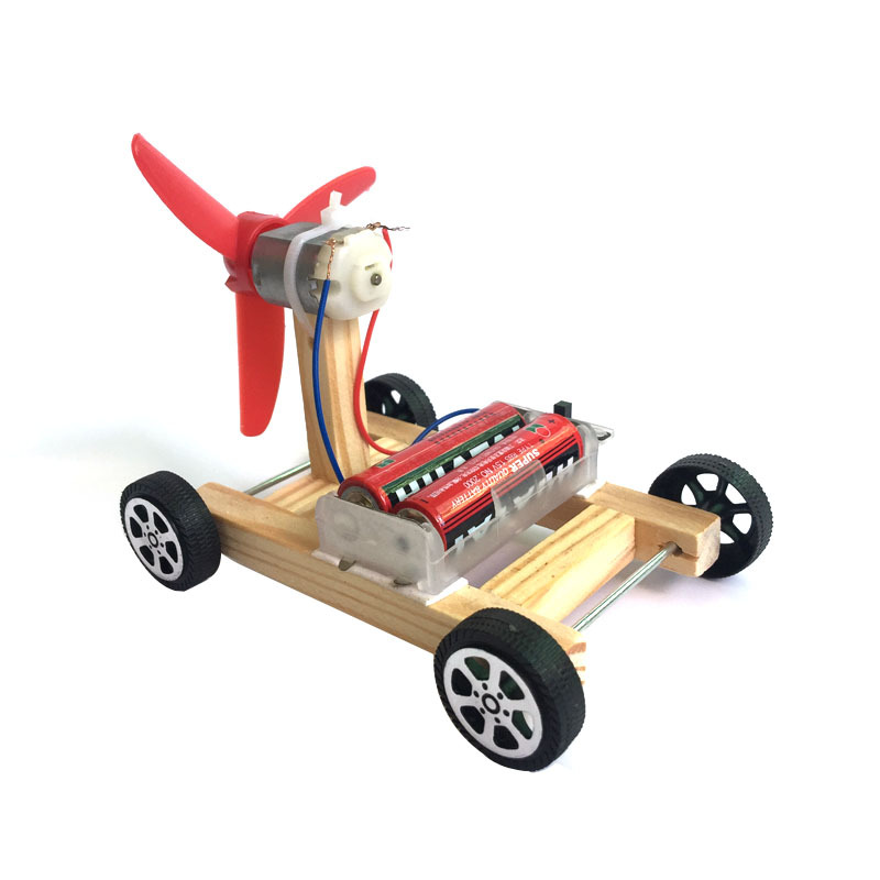Home Diy Single-wing Wind Racing Car Scientific Experiment Of Scientific Toys Wooden Handmade Technology Small-made Promoting Health And Curing Diseases