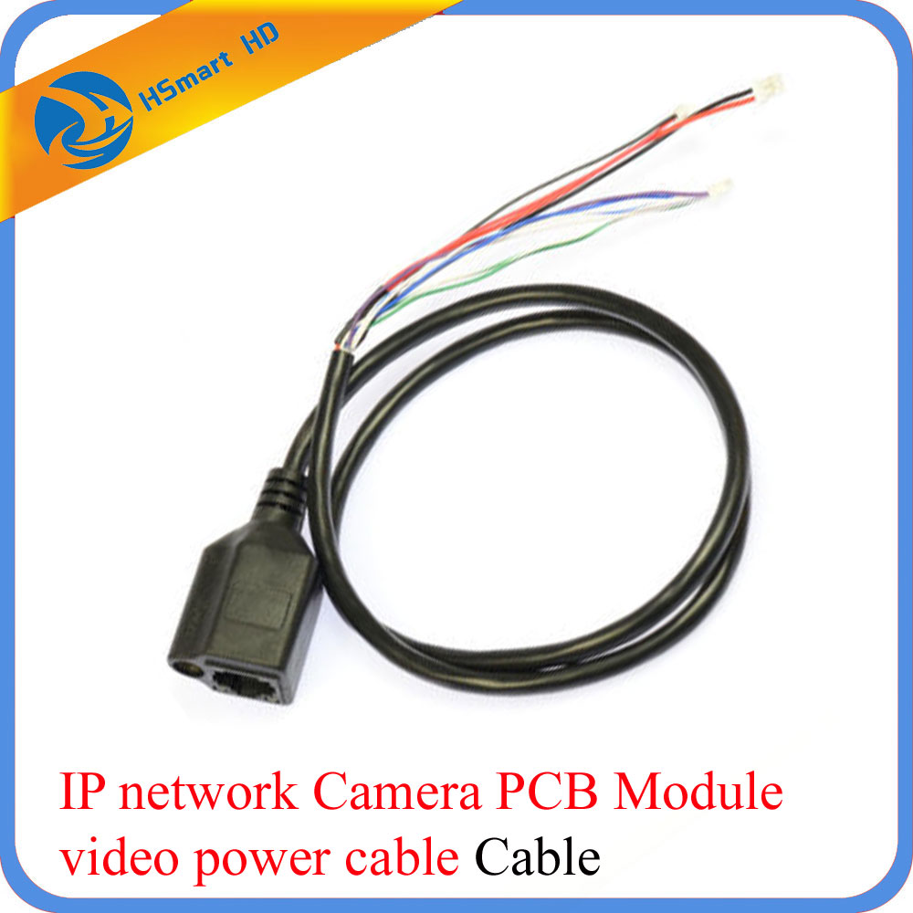 CCTV Network Cable RJ45+DC Power 5.5x2.1mm For IP Camera PCB Module cable 60cm 10pcs cctv ip network camera pcb module video power cable 60cm long rj45 female