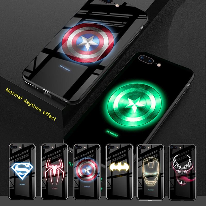 Marvel Avengers Luminous Tempered Glass Phone Case 1