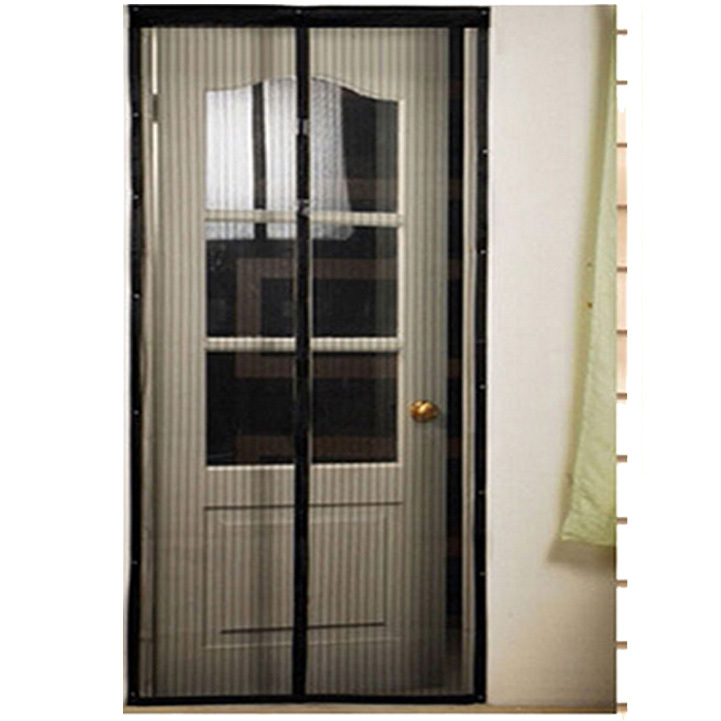 1pc durable magnetic mesh screen door malha mosquito net - Moustiquaire pour porte fenetre a enroulement lateral ...