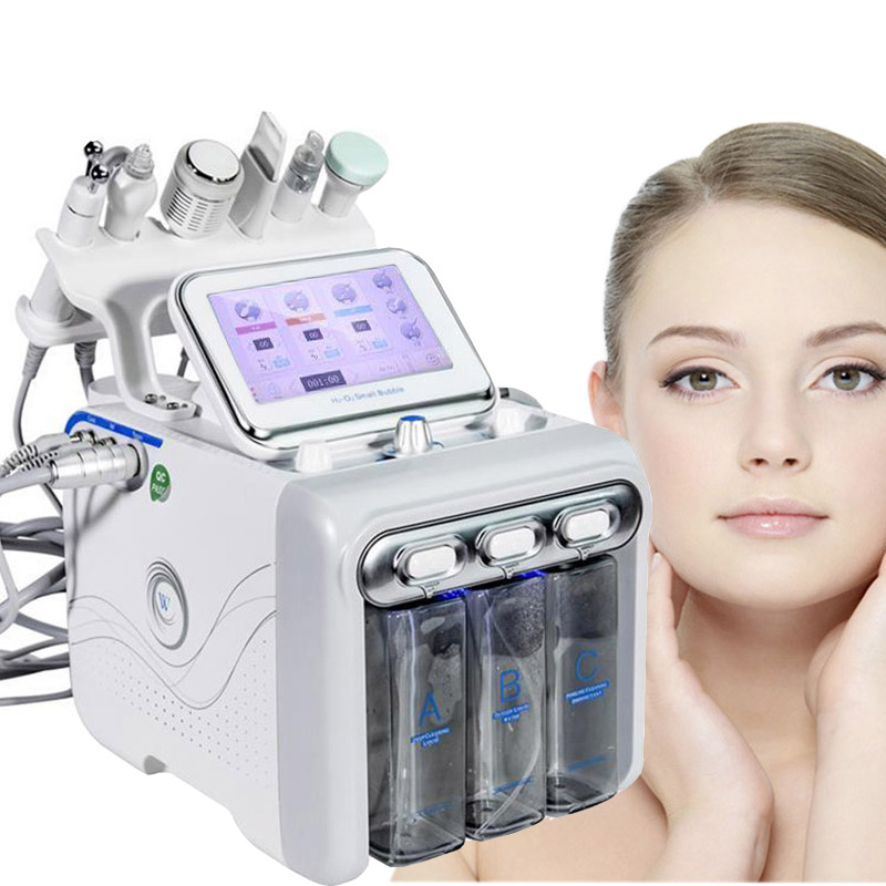 6 In 1 H2O2 Hydra Dermabrasion BIO Lift Spa Facial Machine Hydro Microdermabrasion Facial Machine Water Qqua Peel Cold Hammer