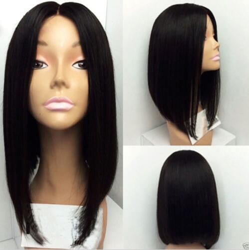 Full Lace Bob Wigs Middle Part Malaysian Human Hair Front Lace Wigs