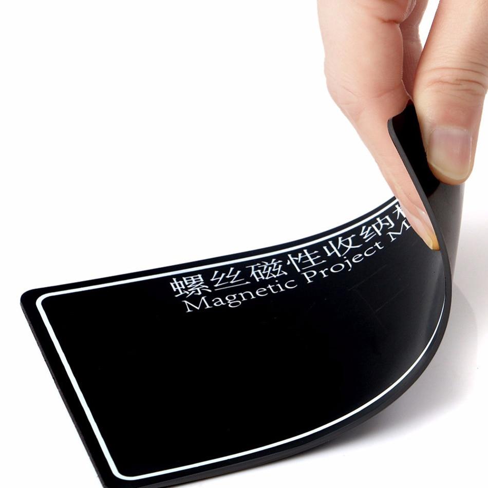 1 Stück Magnetische Projekt Matte Schraube Lagerung Werkzeug Arbeit Pad Für Handy Reparatur Werkzeug Schwarz Und Bule Farbe 150 X 90mm Blut NäHren Und Geist Einstellen