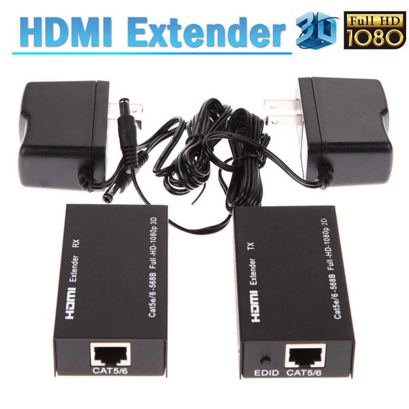 雷に HDMI/DVI エクステンダーオーバー猫 5e/6 イーサネットコンバータ 1080 に 196FT 60/120MUS ugreen プロジェクター