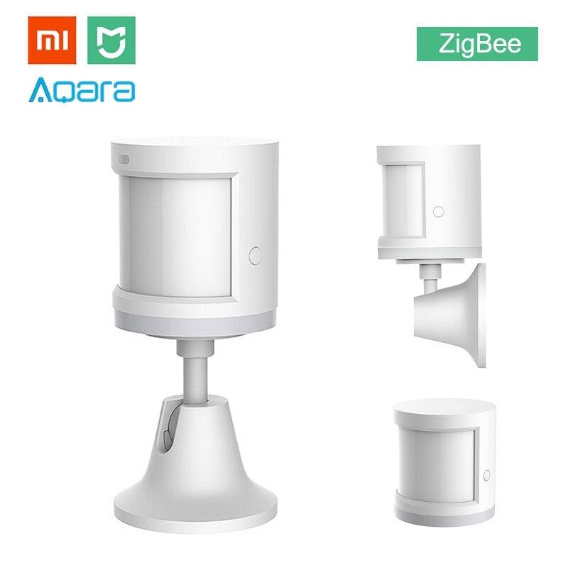 Xiao mi Aqara mi JIA Menschlichen Körper Sensor ZigBee Version Drahtlose WiFi Mit Halter Smart mi Hause APP für Gateway hub iOS/Android