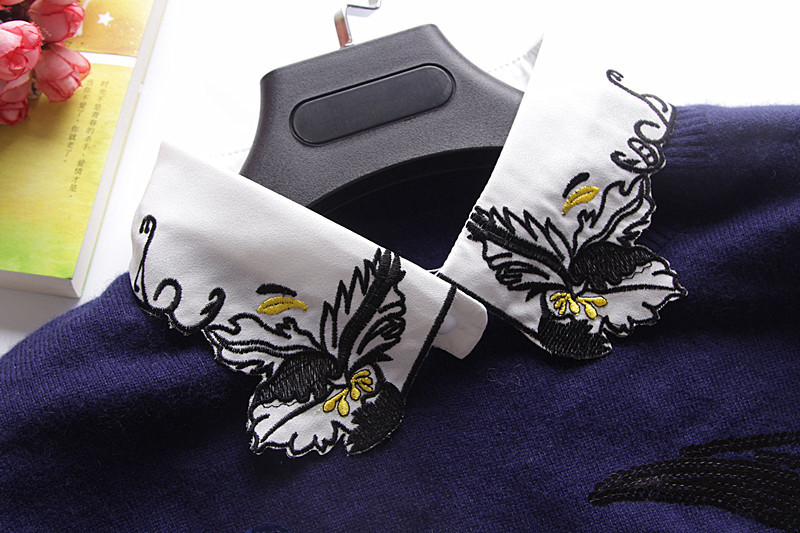 Variety of Korean fashion lovely colorful embroidery false collar Vintage Detachable Collar Women Clothes Accessories embroidery