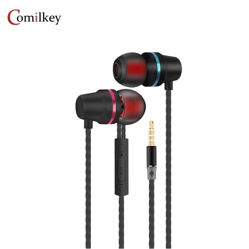 Comilkey E-9 Hifi Stereo BASS Metal in-Ear Earphone Noise Cancelling Headsets DJ In Ear Earphones HiFi Ear Phone Birthday Gift