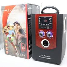 Новые деревянные Динамик мини Портативный стерео Открытый fm Радио Динамик MP3 плеера USB слот карты памяти мощные басы Колонки