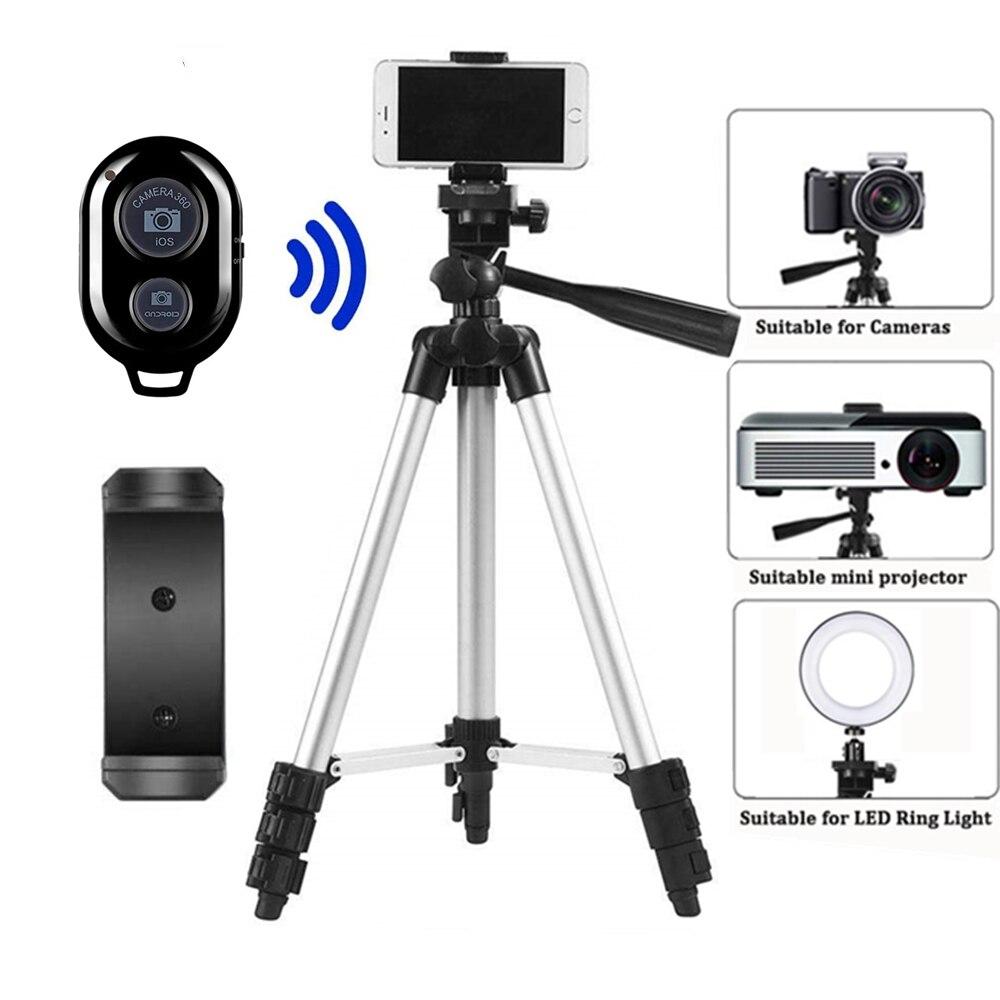 Tripé para câmera móvel tripé dslr vara para suporte bluetooth monopé cam caixa foto titular mesa smartphone tripé para câmera