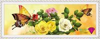 Cross Stitch 5d Diamond Embroidery Flowers Butterflies Color Rose DIY Needlework Kit Handmade Crystal Embroidery Butterfly