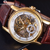 FORSINING Automatic Mechanical Watches 3D Logo Men S Gold Luxury Wrist Watch Men Military Sport Skeleton