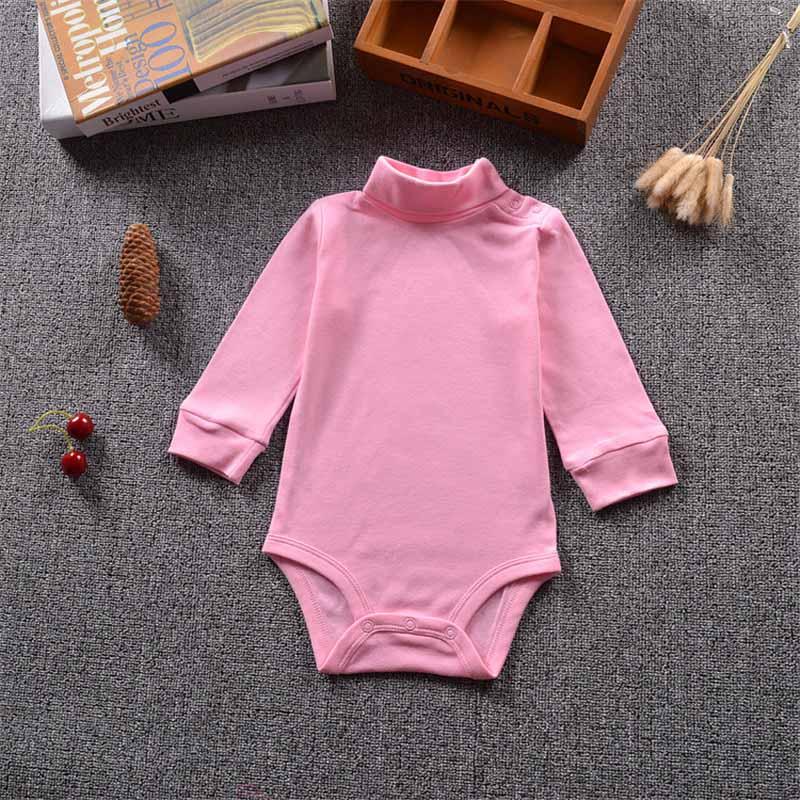 Baby Mädchen Bodys Langarm Baumwolle Strampler Körper Infant Bebe Jungen Solide Revers Pullover Frühling Herbst Winter Marke Kid Kleidung HeißEr Verkauf 50-70% Rabatt