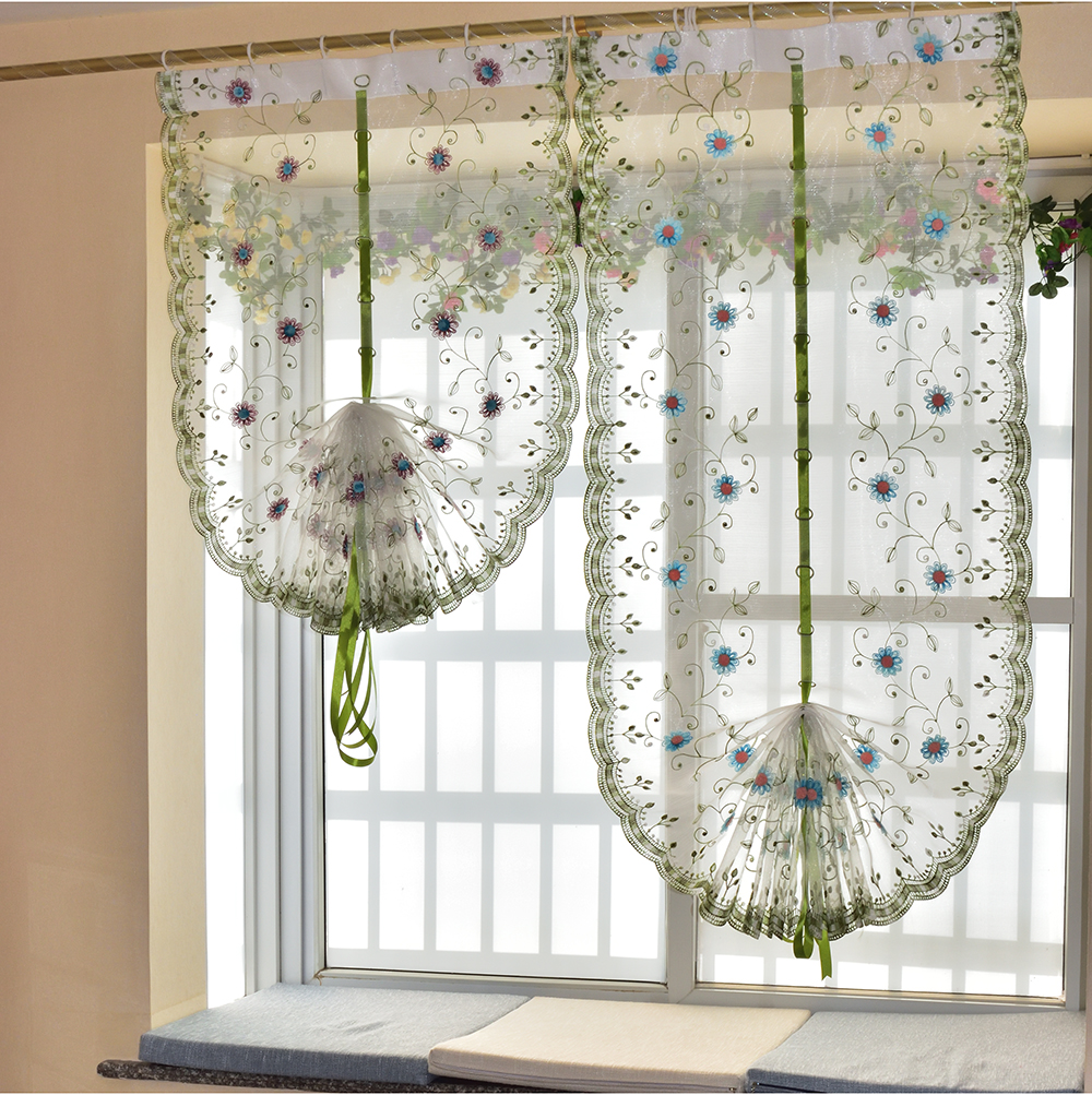 Balloon curtains for kitchen modern design for Balloon curtains for living room