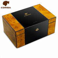 Factory price High quality High Light Piano Paint Cedar Wooden Cigar Humidor W/ Hygrometer and Humidifier