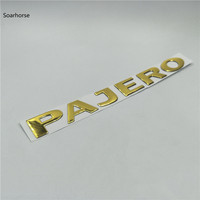 decals rear trunk emblem Soarhorse For MITSUBISHI PAJERO Gold 3D Letters Rear Boot Trunk Tailgate Emblem Nameplate Decals Car Accessroies (4)