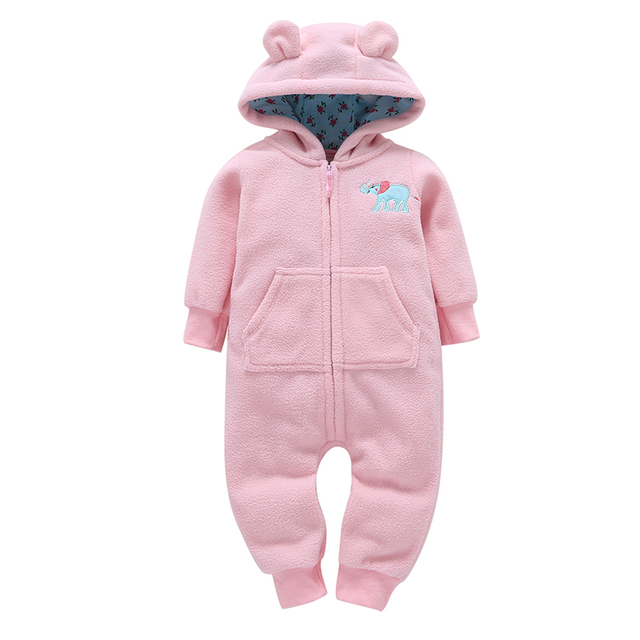 Baby Snow Clothes Winter Rompers Hoodies