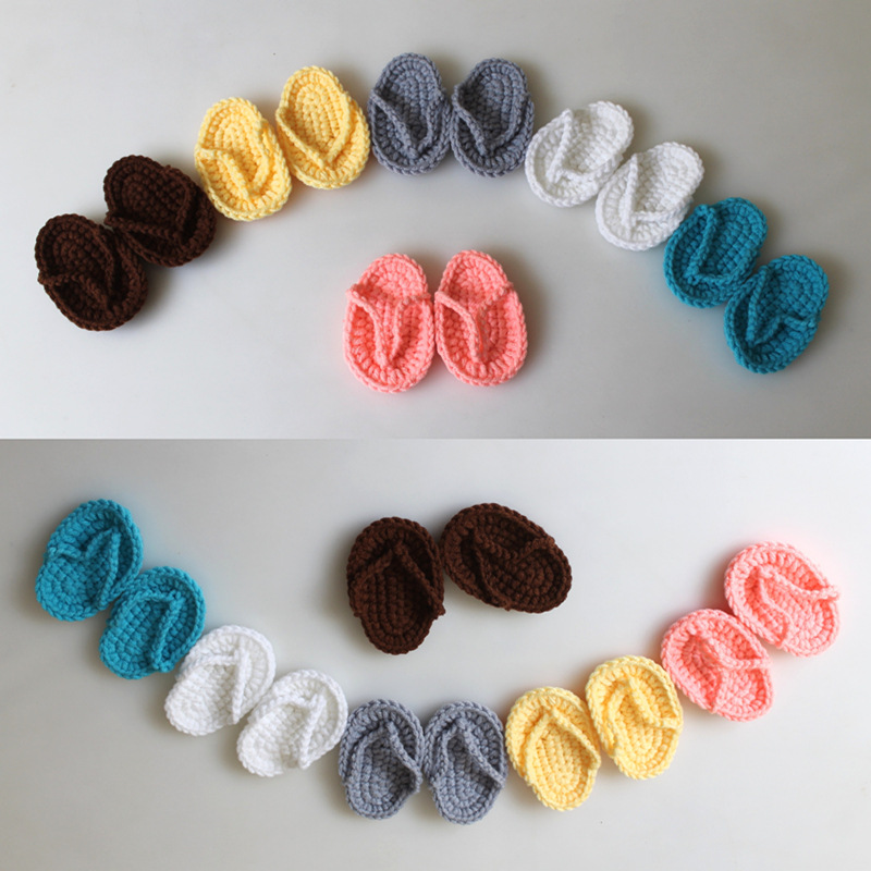 Newborn Photography Accessories Hand Crochet Baby Shoes Infant Slippers