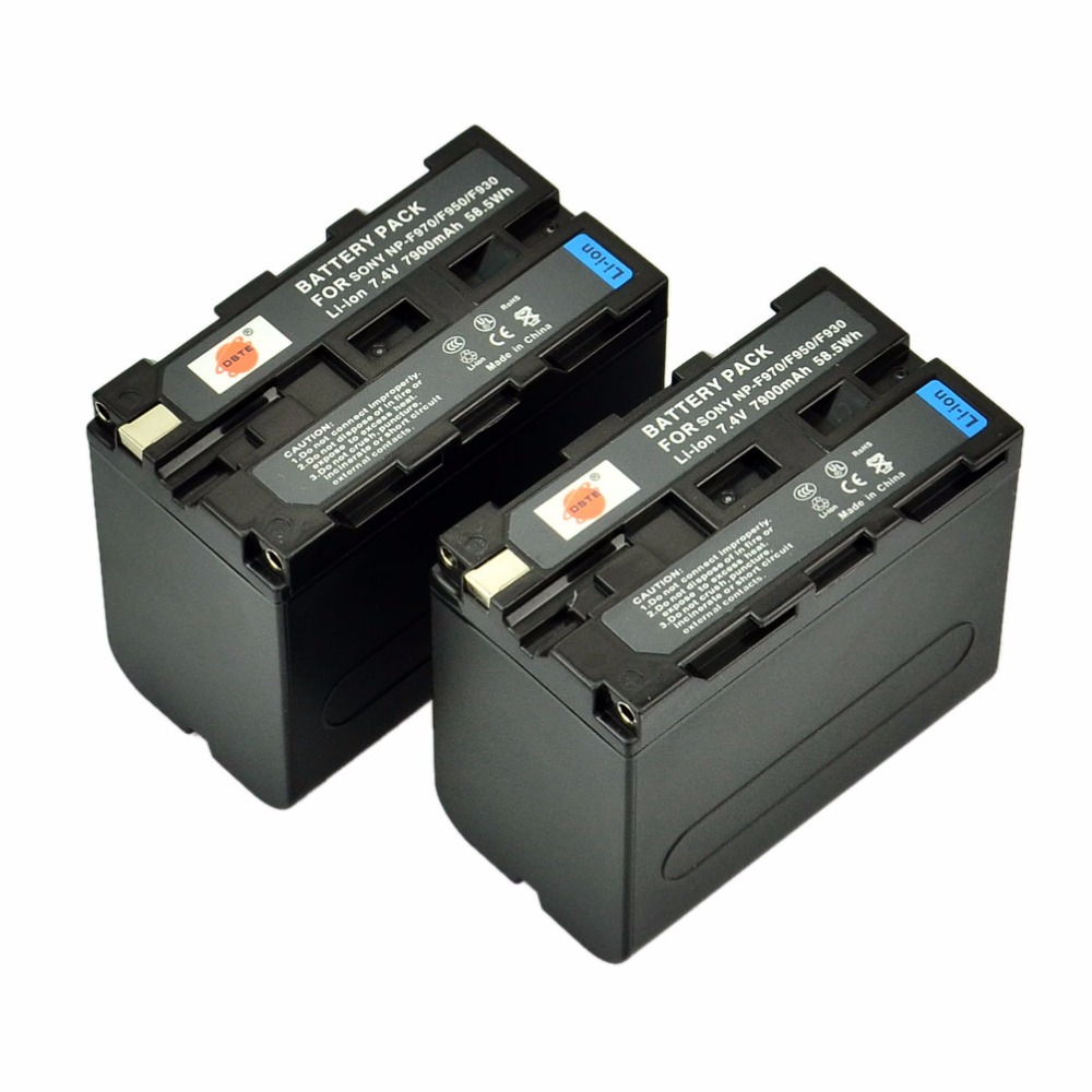 DSTE 2pcs NP-F970 np-f970 Battery for Sony DCR-VX1000 VX2000 VX2100 VX2200E VX700 DSC-CD100 CD250 CD400 D700 D770 Camera 2pcs battery charger np fh50 rechargeable camera battery bateria sony np fh50 dcr dvd dcr hc fh30 fh40 tg3 tg5 tg7 dsc hx1
