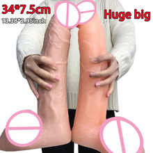 34*7.5cm huge big dildo realistic artificial penis horse dildos for women masturbator giant long thick sex toys woman