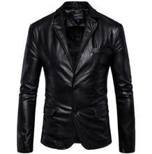New Motorcycle Jacket Fashion PU Moto Leather Jackets Mens Faux Jacket Slim Fit Coats Moto Skull Jacket Coats Black цена 2017