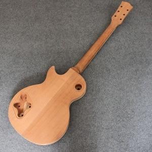 Image 5 - Manche de guitare électrique en acajou pour KIT de projet de Luthier de guitare électrique LP