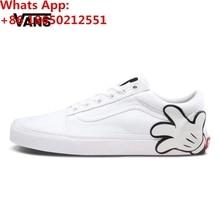 PADEGAO Vanses x Disneys Mickey Mouse Hand White Old Skool Shoes Sneakers ca8963b8b9af