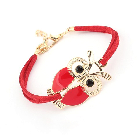 2017 Hot Wrap owl Leather Chain Bracelets & Bangle...